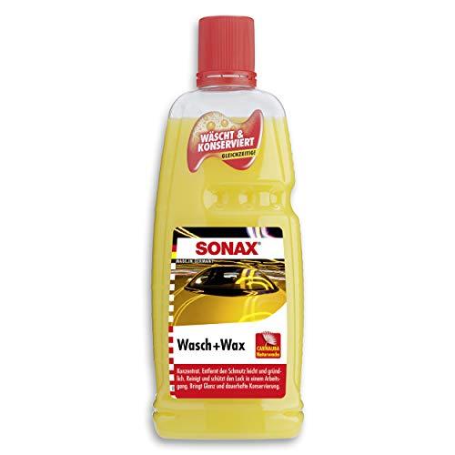 SONAX Wasch & Wax (1 Liter) gründliche Schmutzentfernung und dauerhafter...