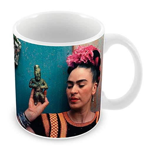 Taza de Cerámica Foto de la Famosa Estrella de Frida Kahlo pintor Original 3
