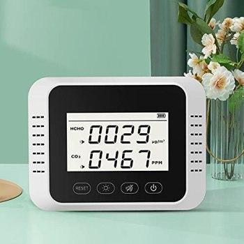 Moniteur de qualité de l'air, grand écran d'affichage, détecteur de CO2, surveillance en temps réel pour la maison pour le bureau