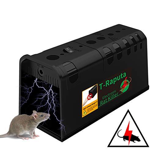 T-Raputa Trappola per Topi, utilizzati per catturare al Coperto e all'aperto ratti, ratti, parassiti, roditori (Nero)