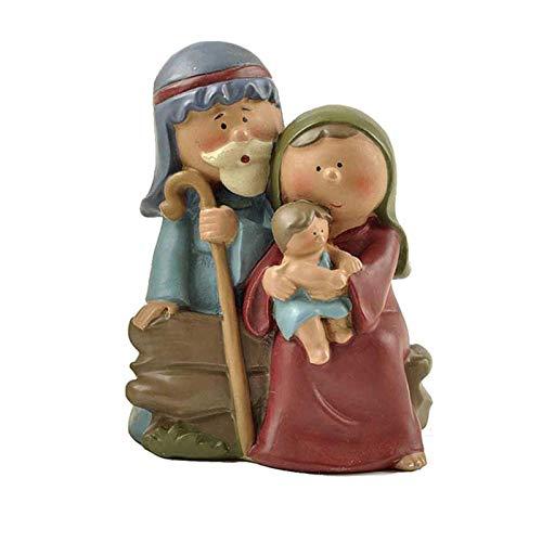 YJYQ Cristo Nacimiento De Jesús Adorno Regalos Natividad Escena Artesanía Resina Pesebre De Navidad Decoración Católica, Figuras En Miniatura,Artesanía, Familiares Y Amigos.