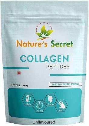 Nature's Secret, Amino Collagen Powder 250 GramsPremium Hydrolyzed Collagen Powder Supplement for SkinHairNailsJoints and Bones.Collagen Peptides Type 3, 250 G, Cream, Unflavored