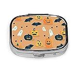 Caja de píldoras de dibujos animados de Halloween, caja de píldoras diaria para monedero de bolsillo, maletín, caja de píldoras de viaje, contenedor de almacenamiento de medicamentos