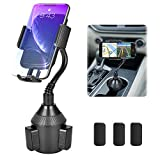 Cup Holder Phone Mount, Cup Holder Cradle Car Mount for Cell Phone Universal Adjustable Gooseneck Cup Phone Holder for iPhone 11 Xs Max/X/8/7 Plus/Galaxy Galaxy Car Phone Mount【Upgraded 2020】
