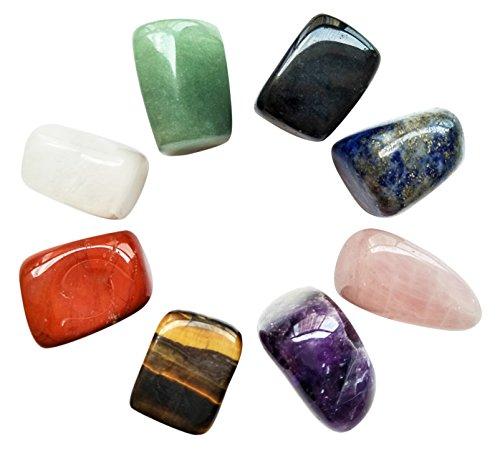 Chakra Stones Healing Crystals Set of 8, Tumbled and...