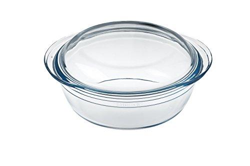 cuisine 7541466 Casseruola rotonda in vetro borosilicato rotondo 2,3 l, trasparente