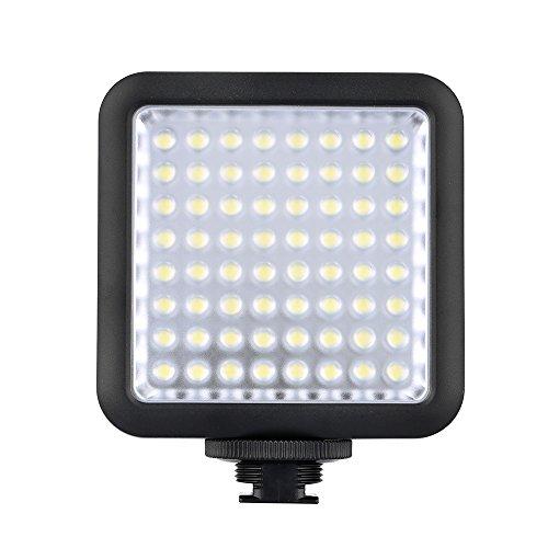 Fotga 64 LED Camera Video Luce del Flash Per Canon Nikon DSLR 5500-6500K Controllo della Luminosit