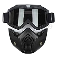 This newest product is made of two parts (goggles and mouth-muffle), parts can be installed/uninstalled easily without any tools The mouth-muffle adopt advanced ventilation system, its inside strainer can block the most of dust and sand during drivin...