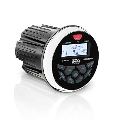 BOSS Audio Systems MGR350B Marine Gauge Receiver - Bluetooth, Digital Media MP3 Player, no CD Player, USB Port, AM FM Radio, Weatherproof
