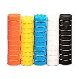 Polishing Pad, ZFE 50pcs 3 inch/80 mm Sponge Buffing Pads, Foam Polishing Pad Kit for Car Sanding, Polishing and Waxing