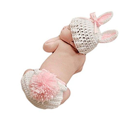 Newborn Baby Bunny Rabbit Crochet Knitted Photography Props...