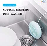 Mini Smart Portable Attached No Install 24W Big Power 30 Mins 10 Sets Bowls Electric Turbo&Ultrasonic Dish Washer Restaurant Canteen Washing Machine IL-A001