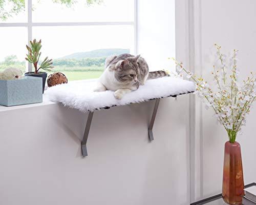 sweetgo Cat Window Perch-Mounted Shelf Bed for cat-Funny Sleep DIY Kitty Sill Window Perch- Washable Foam Cat Seat