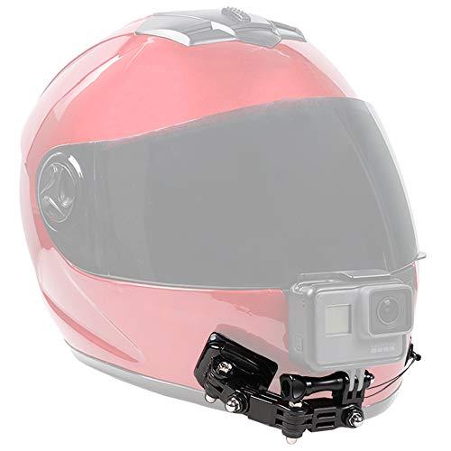 SUREWO supporto per casco per moto e supporti adesivi Compatibile con GoPro Hero 8 7 6 5 Black Nero, 4 Session, 4 Silver, 3 +