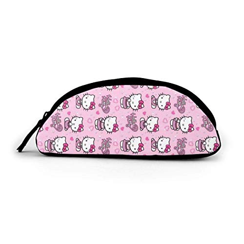 Hello Kitty Pink Wink - Astuccio grande in tessuto a semicerchio, grande tasca con cerniera, per...