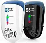 TBI Pro Ultrasonic Pest Repeller Wall Plug-in - Electromagnetic & Ionic Indoor Repellent Anti Mouse, Rats, Roach, Ants, Mosquito, Cockroach Control - Safe Quiet Electronic Device -4000 Sq.ft (2-Pack)