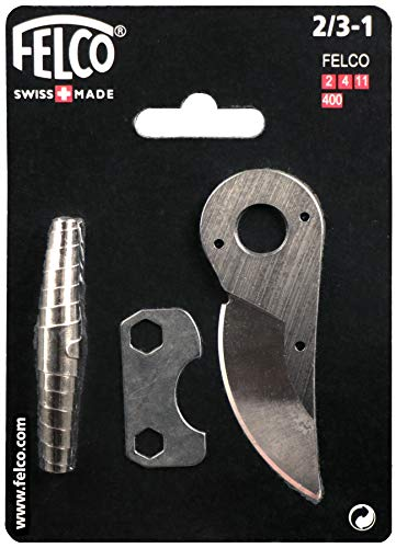 Felco Hand Pruner Replacement Kit (2/3-1) - Spare Blade, Spring, & Adjustment Key for Garden Shears & Clippers