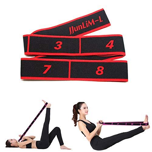 JJunLiM Fasce Elastiche per Esercizi Fasce Elastiche Latine 15-20 kg Pilates Fasce Elastiche per Yoga Resistenza Fitness Fasce Elastiche per Allenamento di Danza Ginnastica Allenamento (90cm Red)