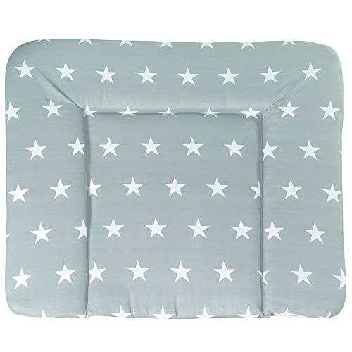 roba Wickelauflage \'Little Stars\', Wickelunterlage 85x75cm aus phthalatfreier Folie, Baby Wickeltischauflage weich gepolstert