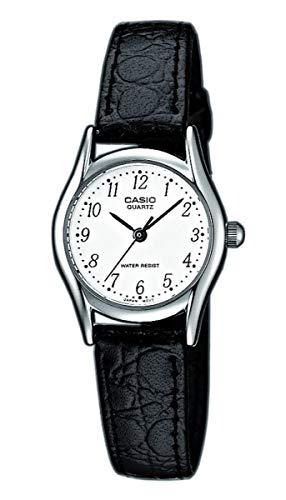 Casio Damen Analog Quarz mit Leder Armbanduhr LTP1154PE7BEF