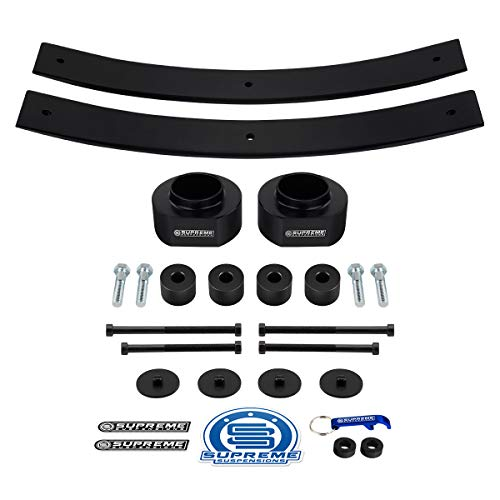 Supreme Suspensions - Full Lift Kit for 1984-2001 Cherokee XJ [4WD] 3' Front Lift Spring Spacers + 2' Rear Lift Add-A-Leafs + Transfer Case Drop Kit PRO