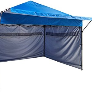 AmazonBasics - Carpa pop-up con paredes laterales, 3 x 3 m, azul 4