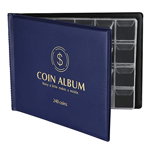 MUROAD 240 Pochettes Album de Collection Pieces de Monnaie, Album...