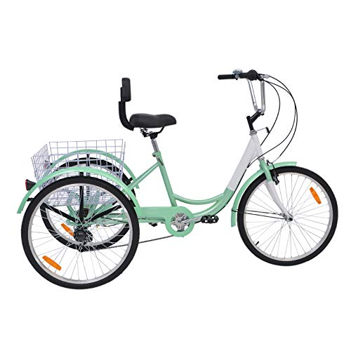 Slsy Adult Trikes 24 inch 3 Wheel Bikes
