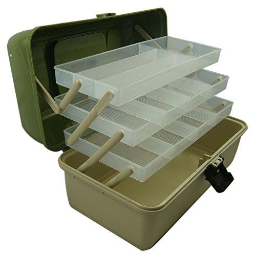 Box da Pesca  3 Ripiani scorrevoli componibili strutturati a Scomparti  Ideale per ami ed Esche