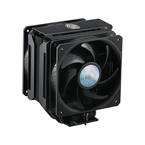 Cooler Master MasterAir MA612 Stealth Ventirad Processeur - Ventilateurs SickleFlow 120 V2 Push-Pull, 6 Caloducs, Dégagement RAM Illimité, Finition Noir Mat - Compatible Prise Universelle