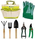 Lantelme 5124 Plantas/Jardn Juego de herramientas con maletn de polister/metal/madera 7 piezas)