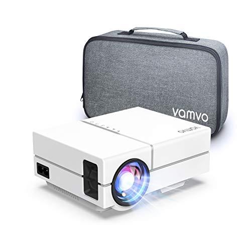 Mini Proiettore Portatile, Vamvo Videoproiettore Full HD 1080p con Dolby, Ideale per Home Theater, con TV Stick, Proiettore Portatile per Telefono con HDMI, VGA, USB 2.0, AV
