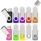 2 Go Lot de 10 Pivotant Clés USB 2.0 Stockage Carte Mémoire Flash Drive...