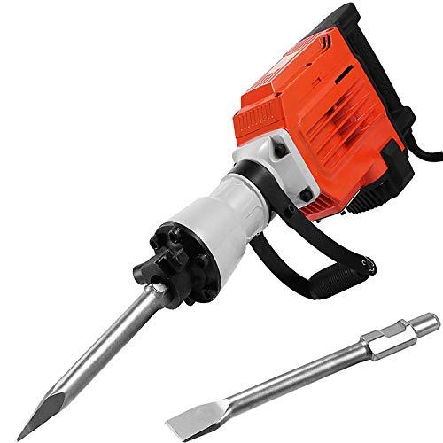 Mophorn 1500W Elektro-Abbruchhammer 95mm Hochleistungs-Betonbrecher 1400U/ min-Bohrhammer-Abbruchbohrmaschinen mit Flachmeißel Bull Point Meißel (95a)