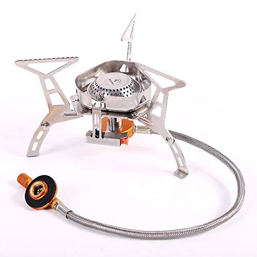 REDCAMP Windproof Portable Backpacking Stove with Piezo...