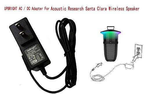 UpBright 14V 1A AC/DC Adapter Compatible with Acoustic Research AR Santa Clara Sans fil Wireless Bluetooth 10 W 20 Watt Sound Speaker AWSEE3 AWSEE3BK AWSEE2 AWSEE2BK AWSEE320BK Power Battery Charger