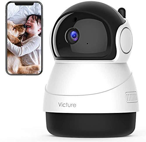 [Nuova Versione] Victure Home 1080P Telecamera WiFi di Sorveglianza, Videocamera Interna con Rilevamento del Suono e del Mivimento, Audio Bidirezionale