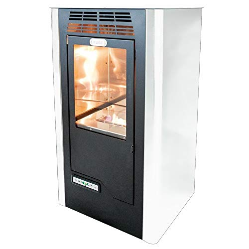 Tecno Air System Ruby Compact Freestanding Bioethanol Black, White–Stove (Freestanding, Black, White, Ceramic, 5L, LCD, Buttons)