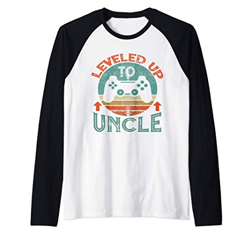 I Leveled Up To Uncle Est 2021 Vintage Promoted To Uncle Raglan Baseball Tee
