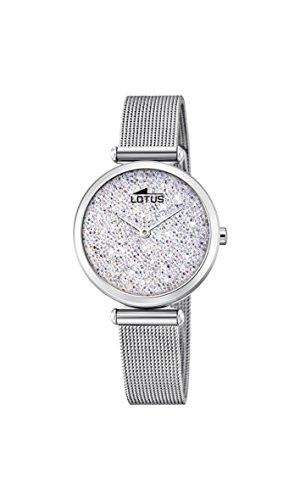 Lotus Damen Analog Quarz Uhr mit Edelstahl Armband 18564/1