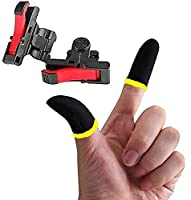 ☑️4 FINGERS OPERATION, FULL OF CHICKEN DINNER- Just use your index and middle fingers to press the L1 R1 triggers, that shooting, aiming, left/ right tilted head, moving, jumping, squatting and and lying operations can be performed at the same time ☑...