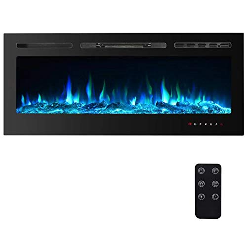 PAOLFOX Recessed and Wall Mounted Electric Fireplace, 9 Available...