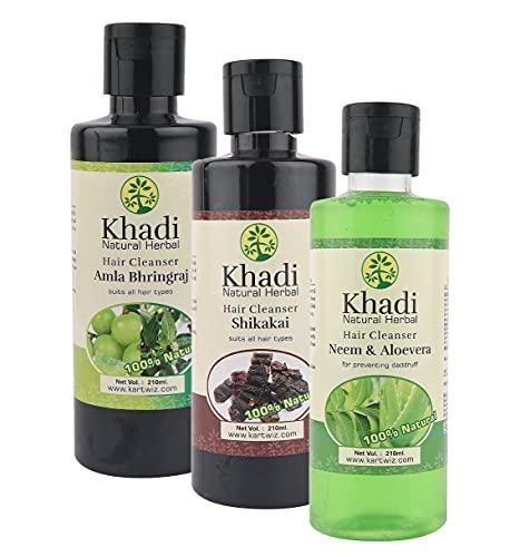 Khadi Natural Herbal Shampoo Pack - 630 Ml
