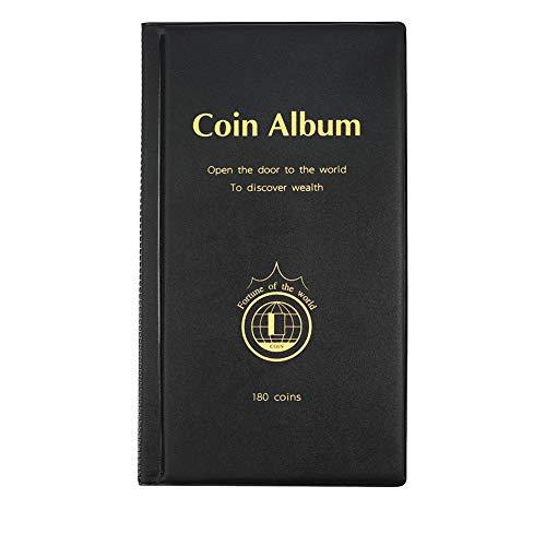 MULOVE 180 Pochettes Album de Collection Pieces de Monnaie, Album...