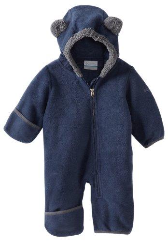 Columbia Baby Tiny Bear II Bunting, Warm Soft Fleece, Collegiate Navy, 6-12 Months