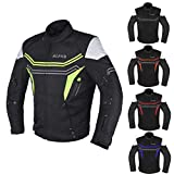 JAYEFO-ALPHA CYCLE GEAR MOTORCYCLE ALL SEASON JACKET (GREEN, XXXX-LARGE)