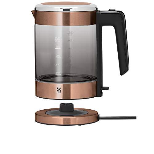 WMF Küchenminis Glas-Wasserkocher (1900 Watt, 1,0 l, kabellos, Wasserstandanzeige, Kalk-Wasserfilter, Kochstoppautomatik) kupfer