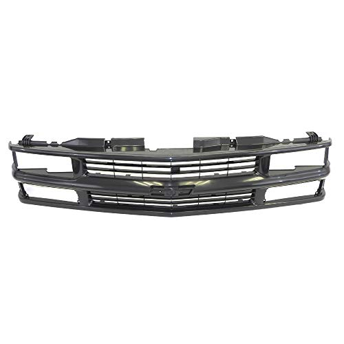 Perfit Liner New Replacement Parts Front Black Grille Compatible With 94-98 C/K 1500 2500 3500 Pickup Truck Blazer Tahoe SUV Fits With Composite Head Lamp Type GM1200239 15981092