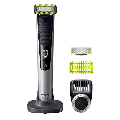 Philips OneBlade PRO QP6620/30 Rasoio Face + Body, Utilizzo Wet&Dry, Include 1 Lama Viso, 1 Lama Corpo, 1 Pettine Regolabarba a 14 lunghezze, 1 Pettine Corpo e 1 Guaina Protettiva per Aree Sensibili