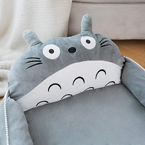 Product Image 6: VIVITG Cartoon Totoro Baby Bed Stuffed Sofa Infant Chair Plush Cute Anime Sofa Bed, for Kids Baby Play Mat Floor Mat, 906035cm